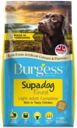 Burgess Supadog Light Adult Complete Rich in Chicken 12.5KG