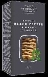 Verduijn's Black Pepper Cracker with a Hint of Sea Salt 75g