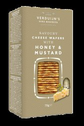 Verduijn's Cheese Wafers with Honey & Mustard 75g