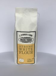 Stringers Organic Strong White Flour 1.5KG