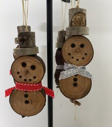 CRF Designs Hanging Snowman Decoration