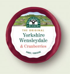 Wensleydale Creamery Yorkshire Wensleydale and Cranberry Truckle 200g
