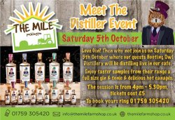 Meet the distiller – Saturday the 6th of October