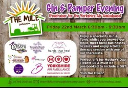 Pocklington Gin and Pamper Evening