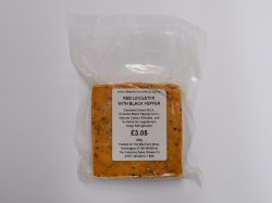 Wensleydale Creamery Red Leicester with Black Pepper 200g
