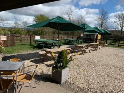 Outdoor Café Area and Campsite opening!