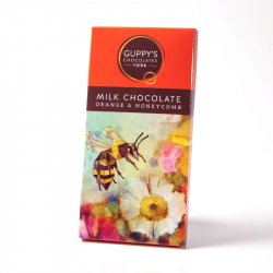 Guppy's Milk Chocolate Orange & Honeycomb Bar 90g