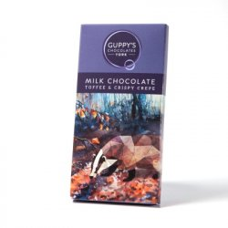 Guppy's Milk Chocolate Toffee & Crispy Crepe Bar 90g