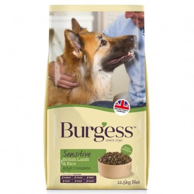 Burgess Sensitive Dog Food with British Lamb & Rice 12.5KG